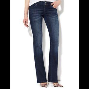 NY&C Curve Creator Bootcut Jeans Dark Wash Sz 4